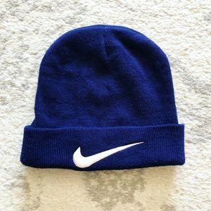 Classic blue & white knit Nike hat